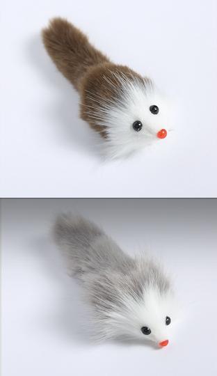 Möss fuskpäls, med pip 2-färgade 100st