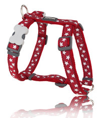 Stars Dog Harness Red