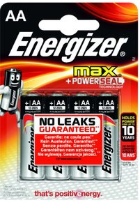Energizer MAX Poweseal AA Batterier