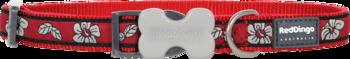 Hundhalsband Röd Hibiscus