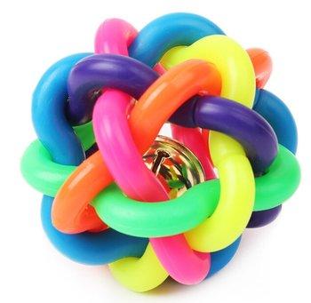 Bjällerboll gummiboll 6cm 5-PACK