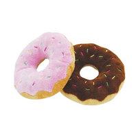 Donut plysch hundleksak pipljud 2-pack
