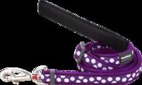 Lila Hundkoppel - spots - justerbart