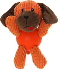 Plyschleksak Röd Boll Hund