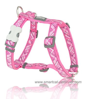 Flanno Dog Harness Hot Pink