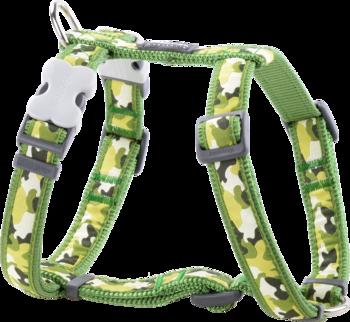 Grön Hundsele Camouflage XS