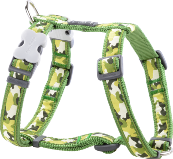 Green Dog Harness Camouflage M