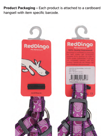 Flanno Dog Harness Red